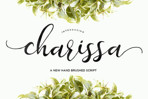 Charissa Script by Area Type Studio on @creativemarket
