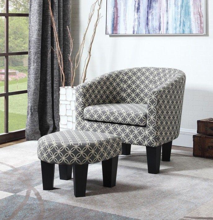 Best Quality Ac180 2 Pc Valerie Faux Linen Fabric Barrel Back