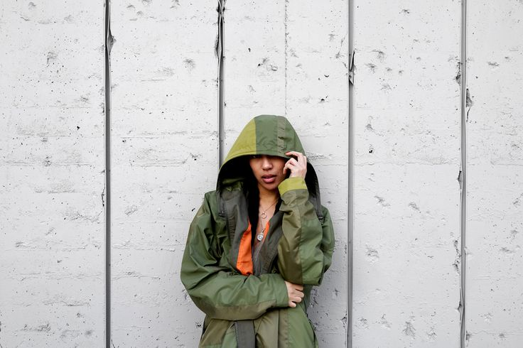 """Maharishi Fishtail Parka, Reversible Monk Knit Top, and Track Pant  Adidas Originals x Yeezy """"Oxford Tan"""" Sneakers  Photography: Allen Park"""