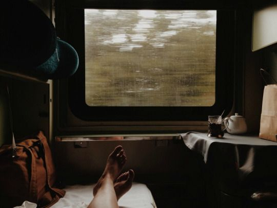 Traveling by Train Print by ©pruginko on Etsy