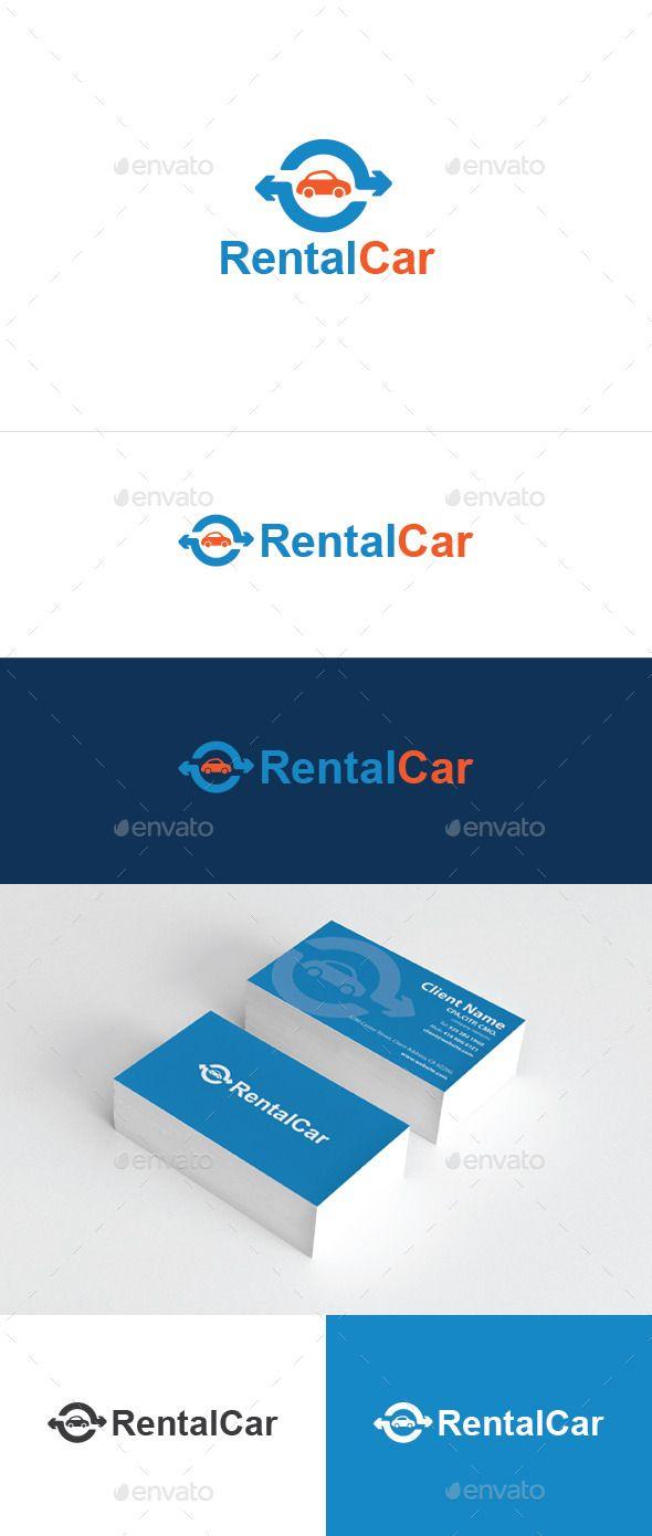 Rental Car - Logo Design Template Vector #logotype Download it here: http://graphicriver.net/item/rental-car/6869533?s_rank=1784?ref=nesto