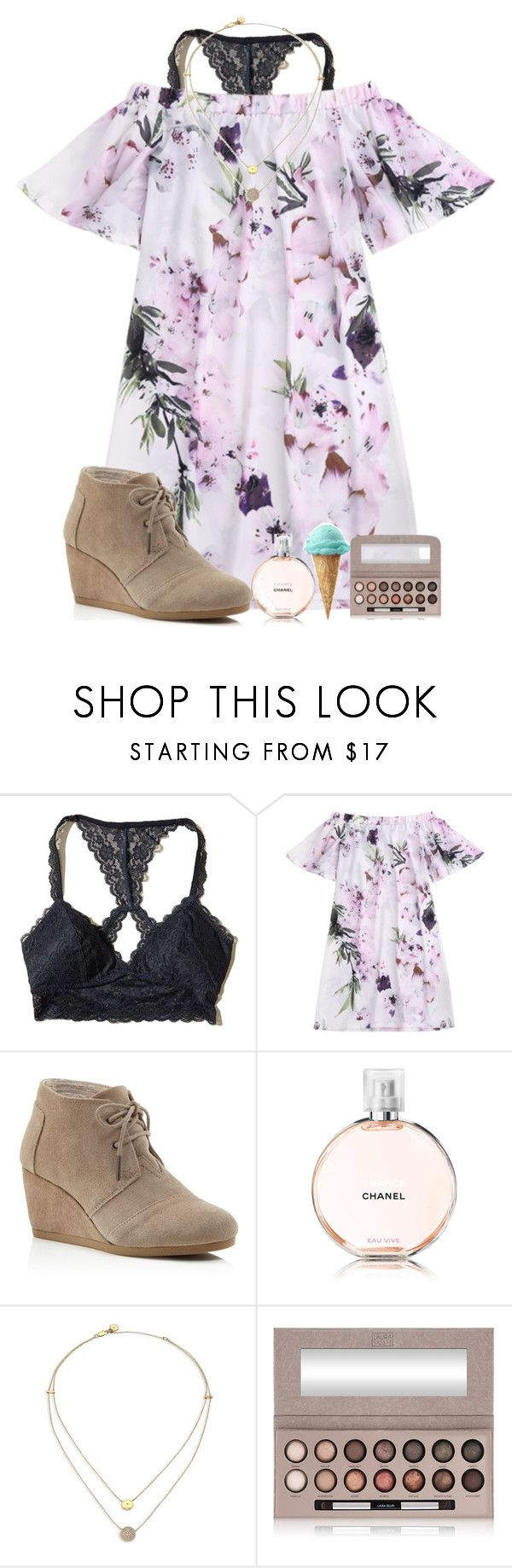 """Happy Easter!!✝️"" by alexislynea-804 on Polyvore featuring Hollister Co., TOMS, Chanel, Michael Kors and Laura Geller"
