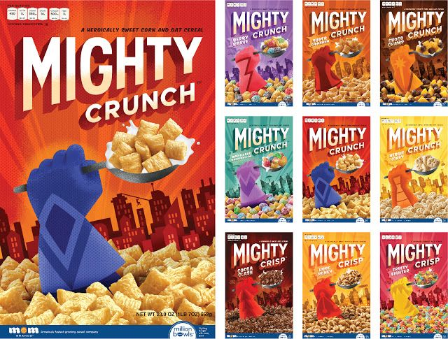 Mighty Crunch on Packaging of the World - Creative Package Design Gallery