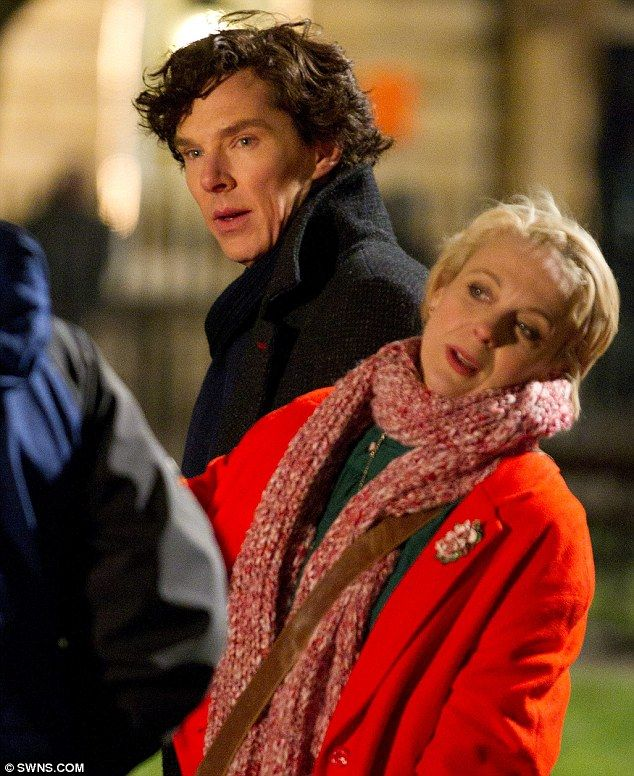 Benedict Cumberbatch and Amanda Abbington. 'Sherlock' season 3 filming <~ I'm so excited!!!!!