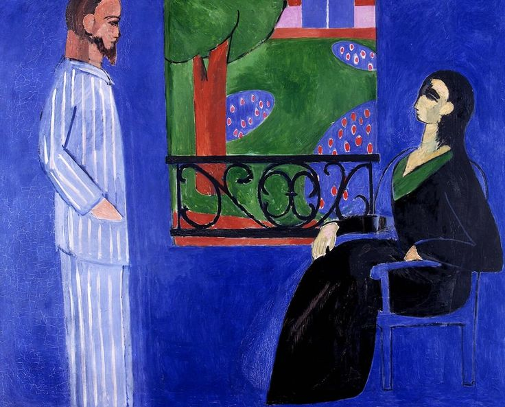The Conversation, 1908-1912 by Henri Matisse  #matisse #paintings #art
