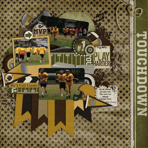 football sports page layouts pinterest scrapbook scrapbooking