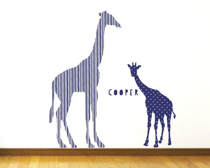 Awesome Giraffe Wall Decals Blue Giraffe Fabric Wall Decals by ecowalldecals on Etsy https GiraffenWandtattoosKinderzimmerEine