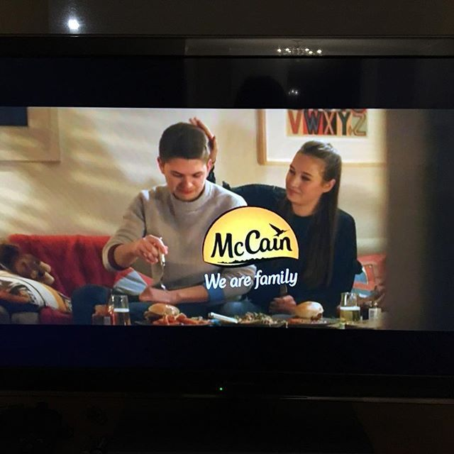 Dont know if its good or bad having my print in background of a McCains chip TV advert  #nosuchthingasbadpublicity #artontv #artprop #artforhire #alphabetprint #atoz #artdeco #interiortrends