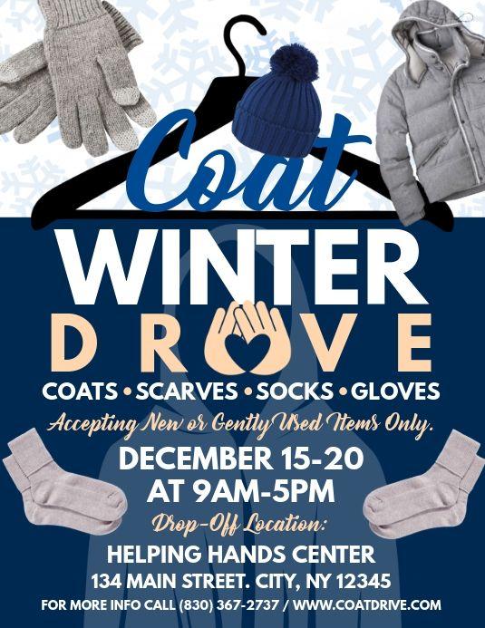 Coat Drive Template Coat Drive Flyers Coat Drive Donations