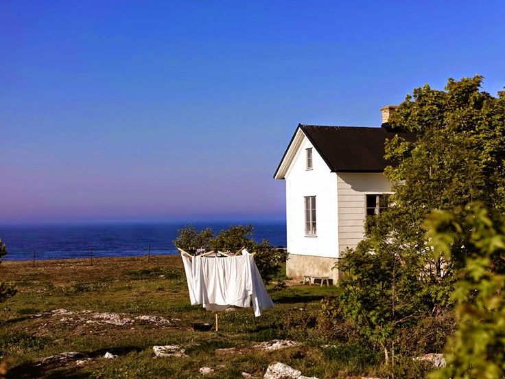 A former lighthouse keeper's cottage on Gotland