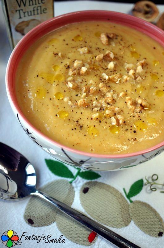Zupa krem z topinamburu z dodatkiem słodkich ziemniaków i pora http://fantazjesmaku.weebly.com/blog-kulinarny/zupa-krem-z-topinamburu-z-dodatkiem-slodkich-ziemniakow-i-pora