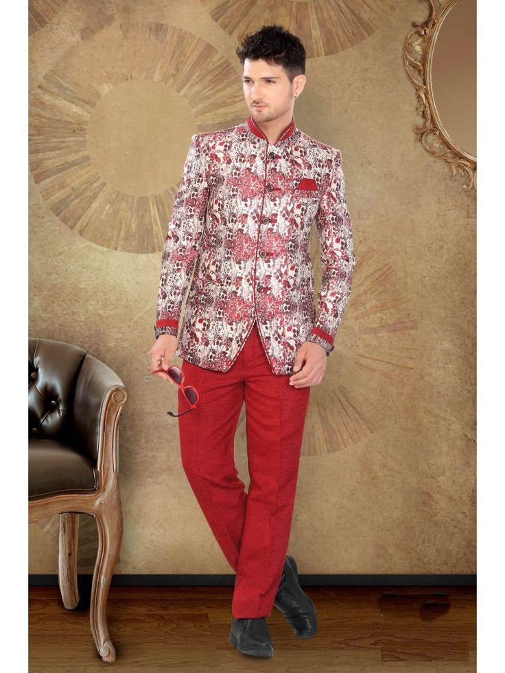 Solid Jute Men Suit