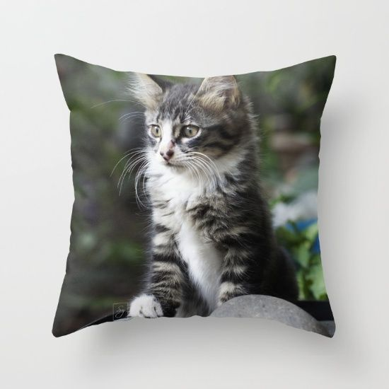 10% OFF All Home Decor + Free Shipping on Everything Today!  #cat #kitten #animals #animal #cute #pet #pets #domesticpet #black #blackcat #nature #photography #homedecor #pillow #society6