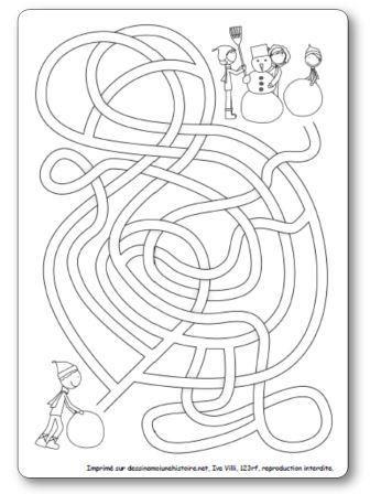 Labyrinthe Bonhomme de neige