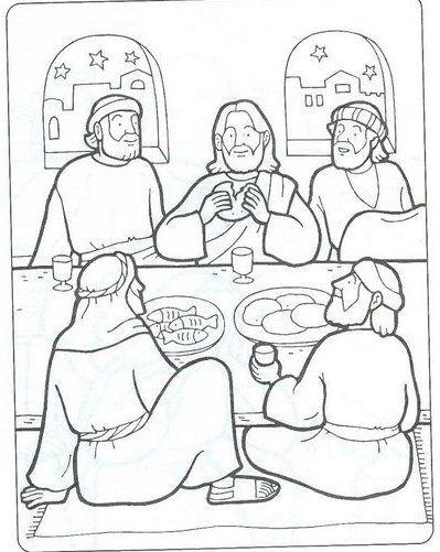 New Testament Coloring Pages | LAST SUPPER-ÚLTIMA CEIA-BIBLEKIDS