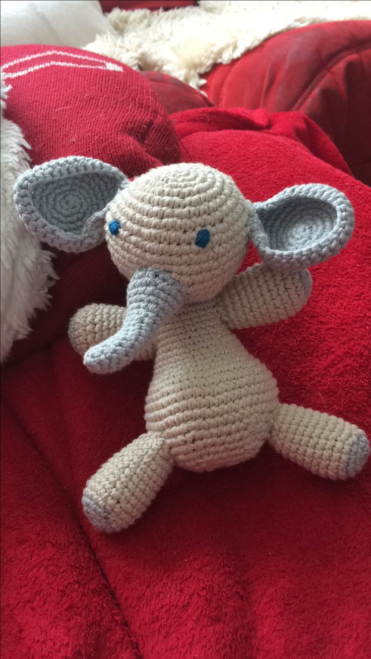 Crocheted Nellie from leftover wool