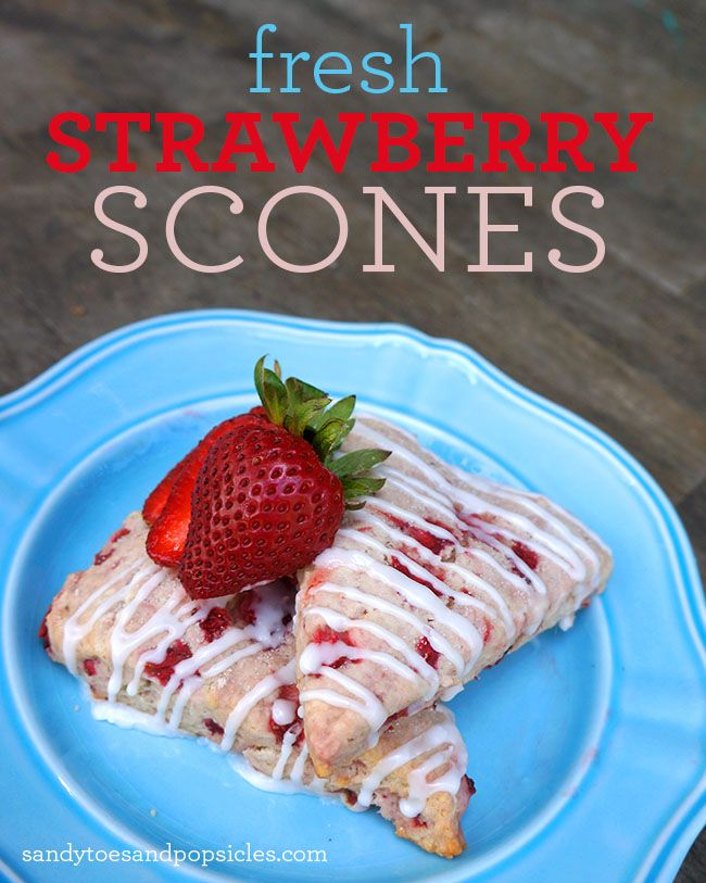 Easy Strawberry Scones #Recipe Had to cook these longer than expected, but other than that it was easy peasy