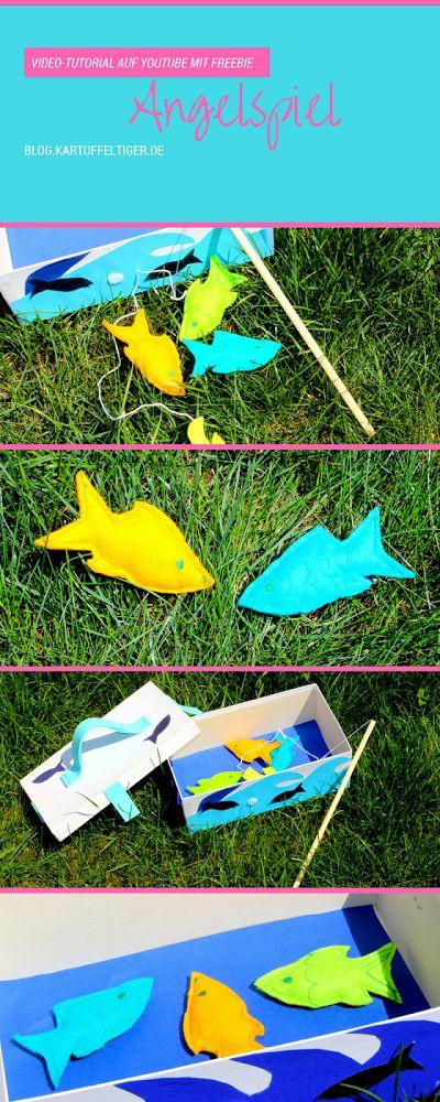 DIY * Tutorial Freebook Freebie* Angelspiel machen, basteln, nähen *blog.kartoffeltiger.de * Pinterest