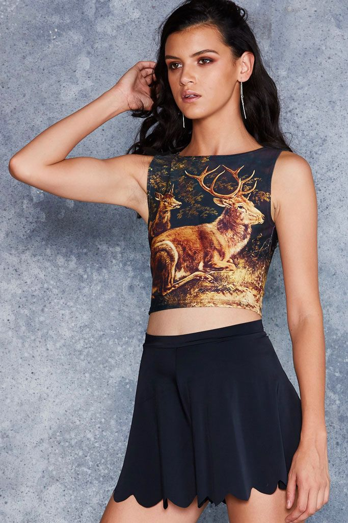 Deer Friends Wifey Top - 48HR ($50AUD) by BlackMilk Clothing