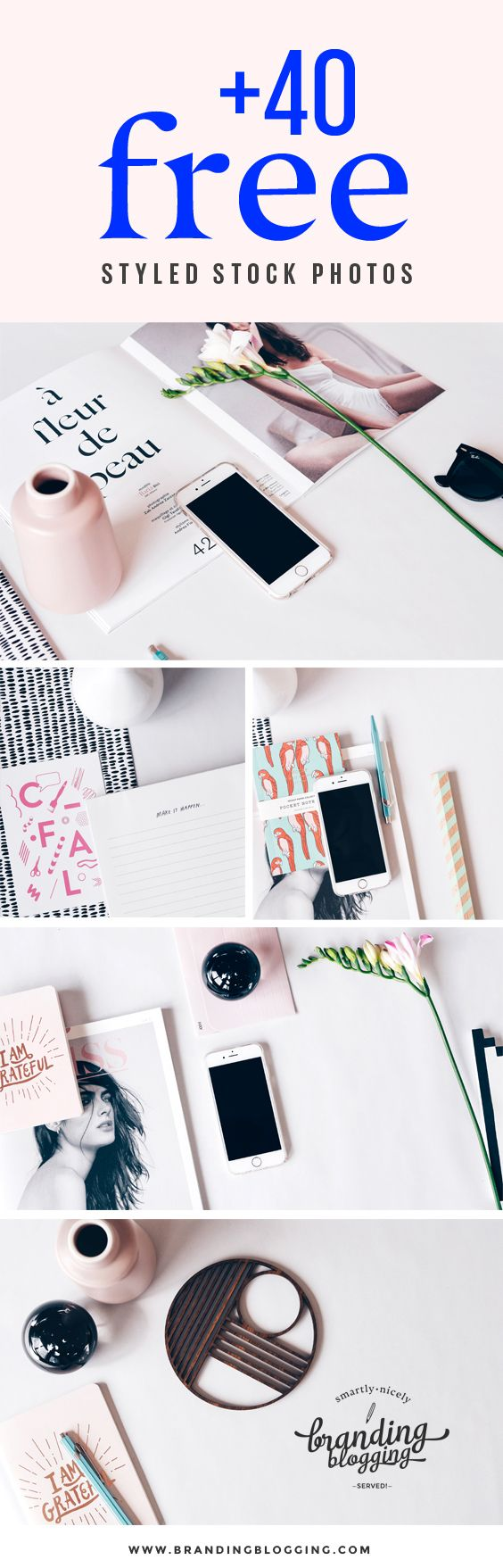 Looking for beautiful pictures to add to your content? 40 FREE styled stock…