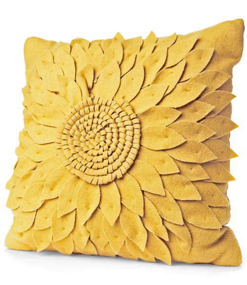 """This bright piece will add a burst of cheer to any room. (16"""" square; target.com for stores)   - CountryLiving.com"""
