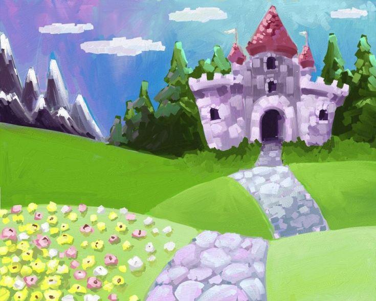 Cartoon Castle Painting Babys Depa Pinterest Cartoon
