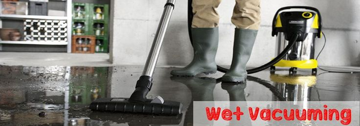 wet vacuuming