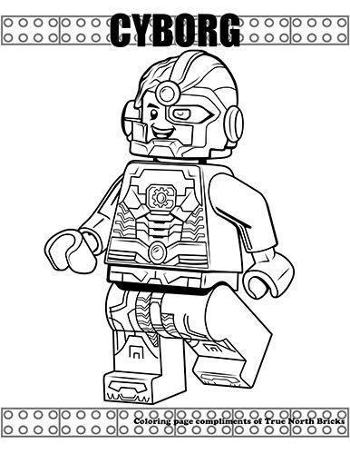 Coloring Page: Cyborg | Dibujos, Flash lego, Moldes