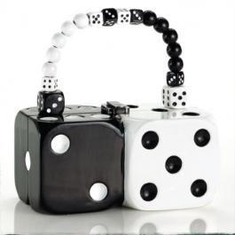 Unique purse in black & white
