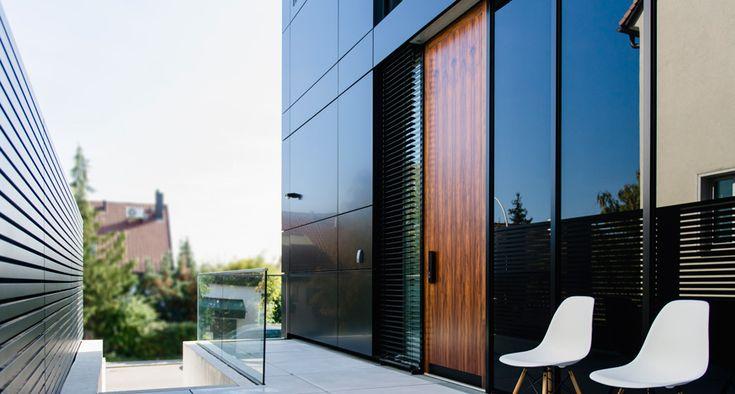 Moderne Haustür Designvilla Stuttgart