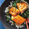Asian Salmon Bowl with Lime DrizzleBrown Rice, Rice Bowls, Healthy Fish Recipe, Food, Soy Sauce, Salmon Bowls, Limes Drizzle, Asian Salmon, Salmon Recipe