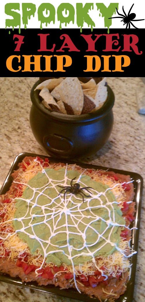 My 10 FAVORITE Halloween Party Appetizers! Spooky 7 Layer Dip Recipe– easy, cre…