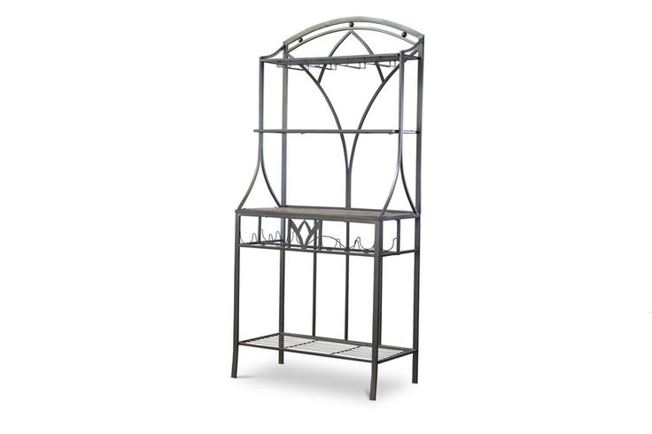 Margaux Wood and Metal Transitional Baker's Rack
