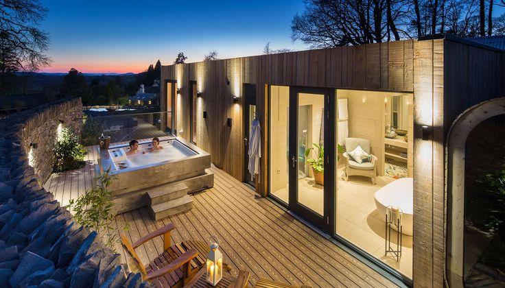 Gilpin Hotel & Lake House - Spa Lodge hot tub at sunset