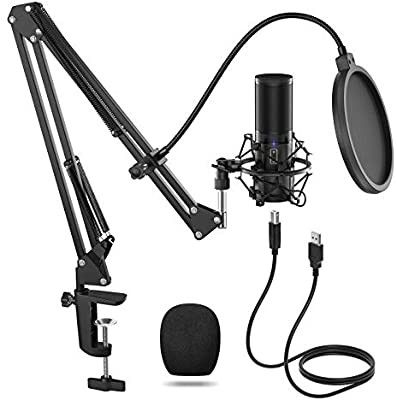 Tonor Usb Microphone Kit Q9 Condenser Computer Cardioid Mic For Podcast Game Youtube Video Stream In 2020 Usb Microphone Light Laptops Usb