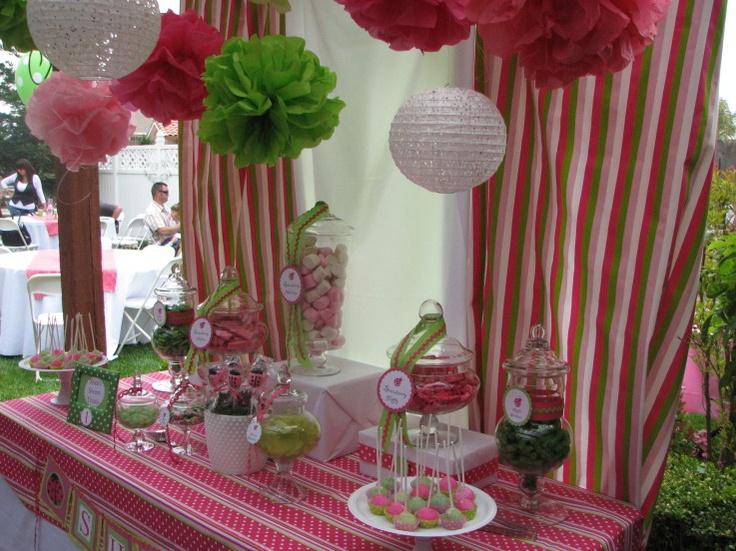 Ladybug pink and green party: Ladybug Birthdayparty, Ladybug 1St Birthdays, Pink Ladybug Party, Pink And Green Ladybug Party, Ladybugs, Pink Ladybug Birthday, Party Ideas, Birthday Ideas, Birthday Party