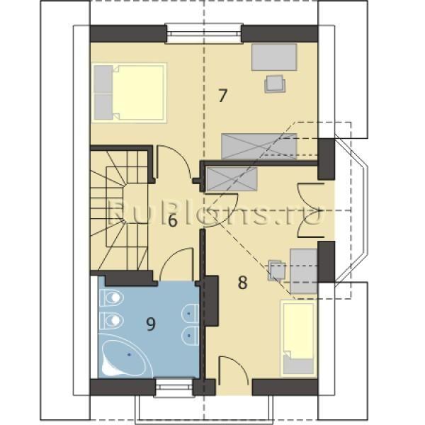 Небольшой уютный дом R1471z (Зеркальная версия). Проект одноэтажного дома на 76 м2 — вариант достаточного удобного, комфортного а также недорогого и доступного жилья для Вашей семьи. Компактный и экономичный загородный дом, построенный по этому проекту, впишется даже на небольшой участок земли. Планировка помещений проекта одноэтажного дома удобна и рациональна. Количество жилых комнат в данном проекте – 3. Проект имеет удобную и рациональную внутреннюю планировку. Мансардный этаж позволяет…
