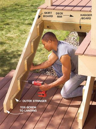 Attaching Deck Stringers To 2x8 Rim Joist - Carpentry - DIY Chatroom - DIY Home Improvement Forum