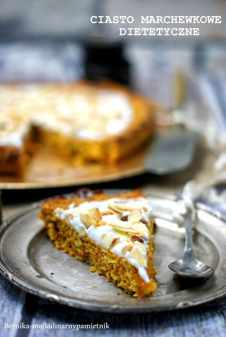 dietetyczne, ciasto, marchewka, bernika