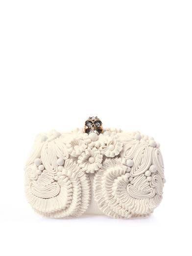 Glory skull 3D flower clutch | Alexander McQueen | MATCHESFASH...