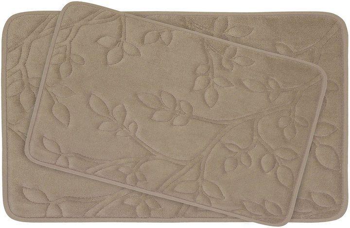 Asstd National Brand Bounce Comfort Spring Leaves 2-pc. Memory Foam Bath Mat Set