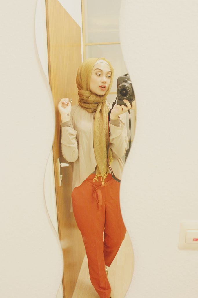 ORANGE AND GOLD #Hijab #muslimah