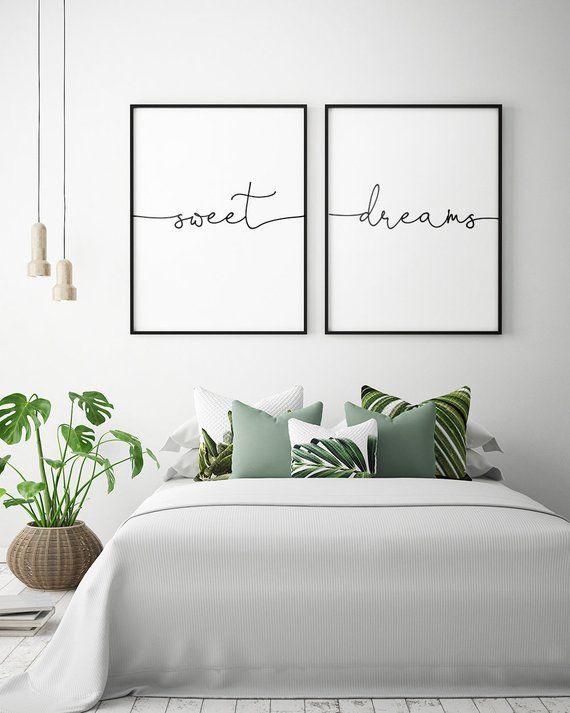 Über dem Bett Kunst: Sweet Dreams druckbare Kunst…