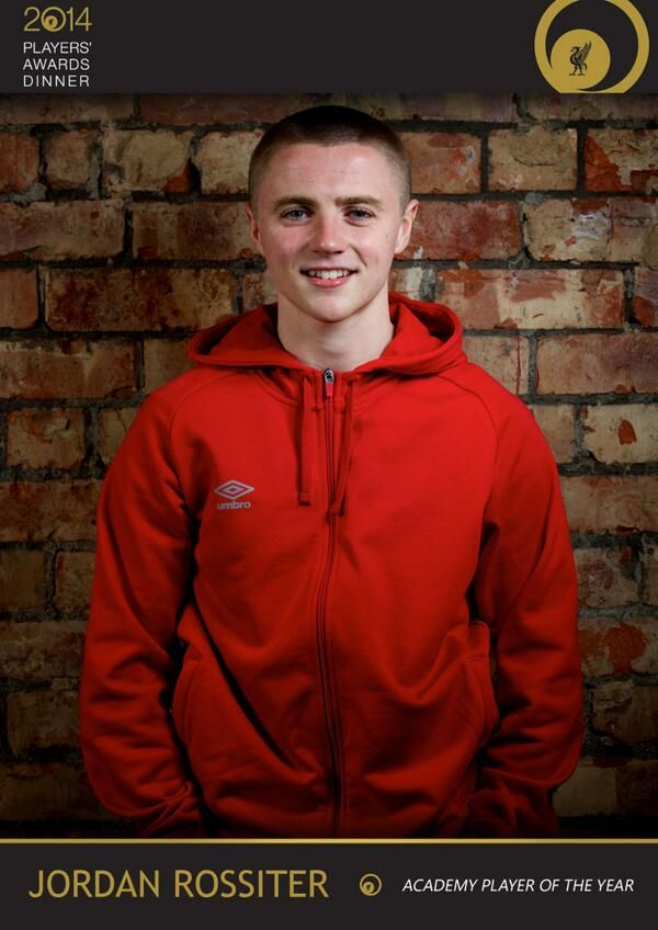 The winner of the Academy Players' Player of the Year award is midfielder Jordan Rossiter #LFCAwards