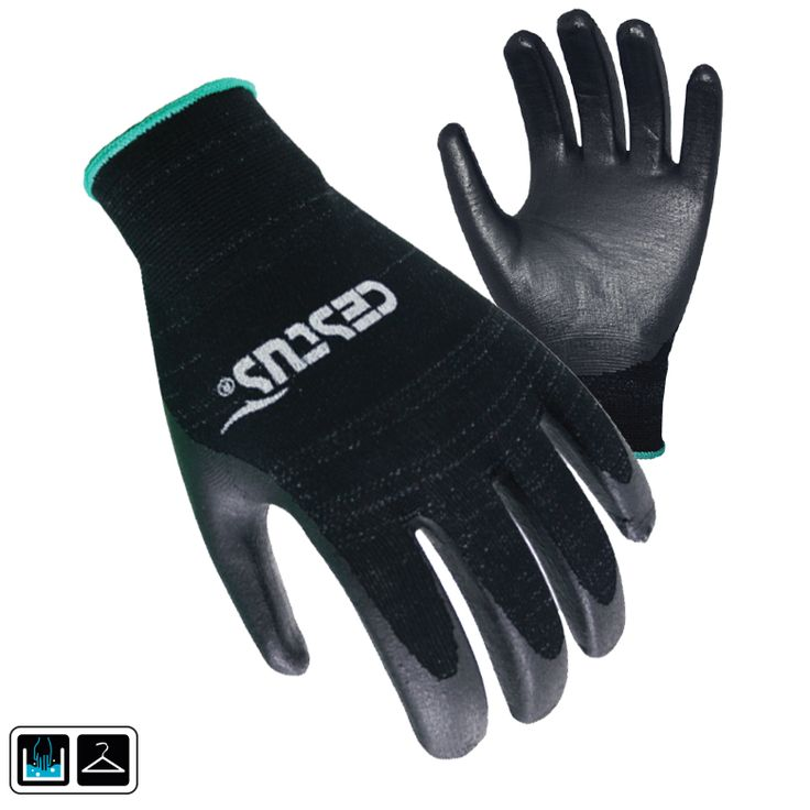 Power Grip: Avoid the potential for latex allergies with this nitrile palm coated glove. Stretchy, breathable fit for all day comfort. Excellent resistance to punctures and tears.