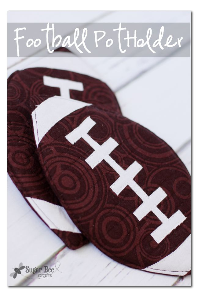 DIY Football Pot Holder - SNAP!  http://snapcreativity.com/football-pot-holder/