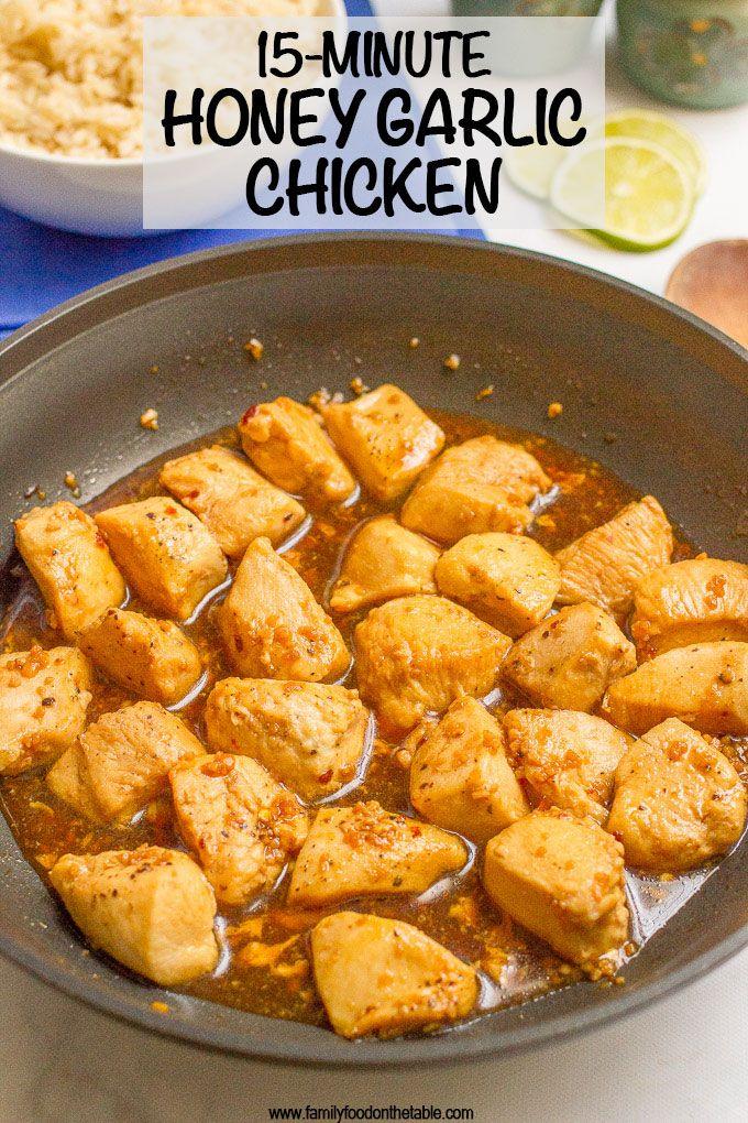 15 Minute Honey Garlic Chicken Recipe Easy Chicken Recipes