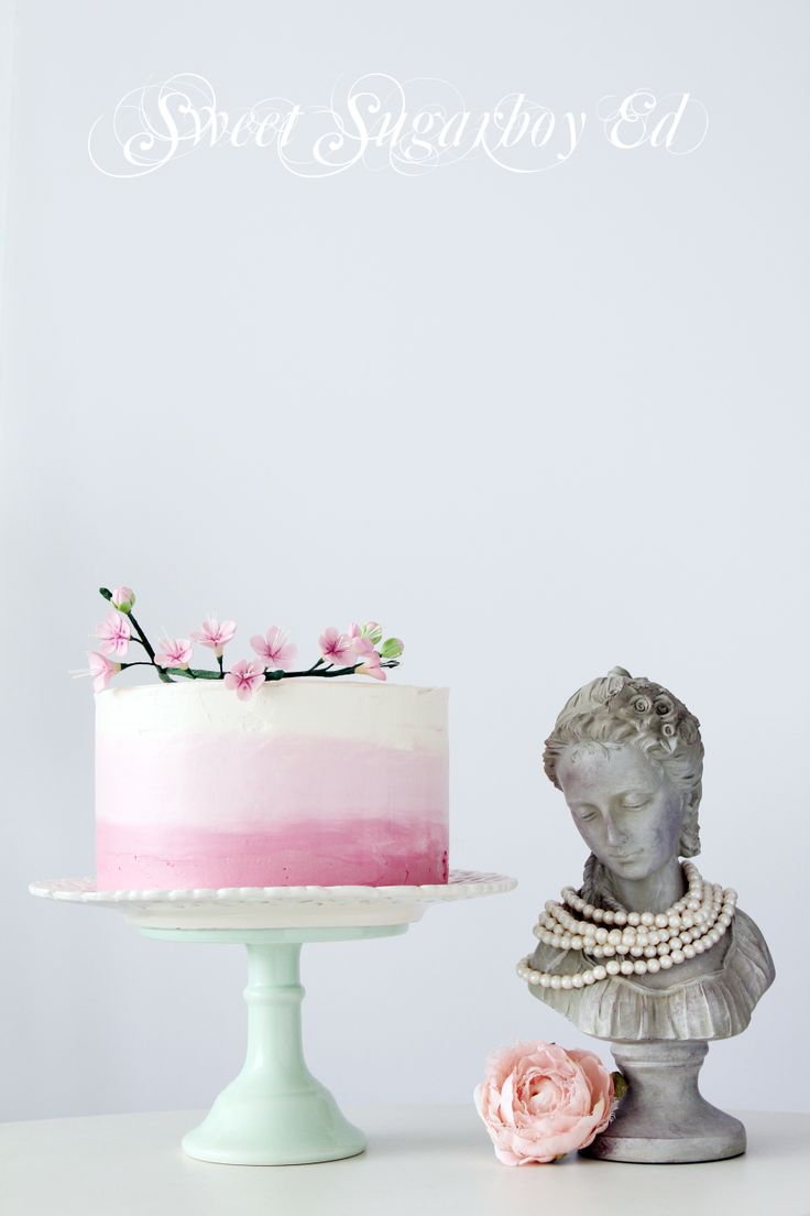 Pink Ombre Buttercream Cake 24 March 2014