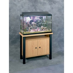 @Overstock - Display your aquarium with pride atop this 29-gallon standAquarium stand features a sturdy 1-inch thick topLiving room furniture is constructed of oak and black metalhttp://www.overstock.com/Pet-Supplies/29-Gallon-Aquarium-Stand/3274947/product.html?CID=214117 $79.99