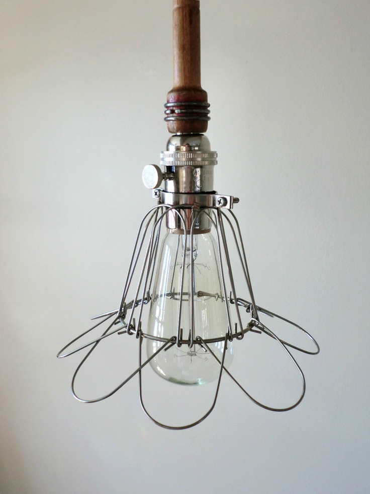 industrial vintage caged trouble light edison bulb by austinlw